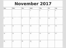 August 2017 Print Out Calendar
