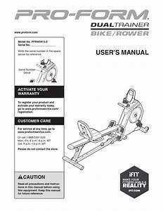 Proform Dual Trainer Bike Rower Manual By Aragonez