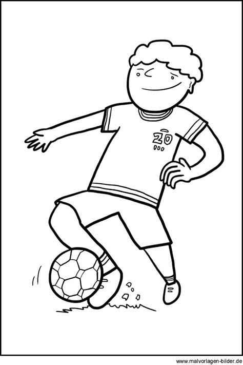 fussball gratis ausmalbild zum ausdrucken