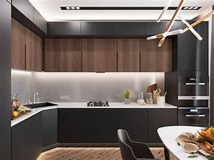 minimalist kitchen designs decorated with a wooden accent With kitchen cabinet trends 2018 combined with modern minimalist wall art