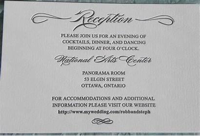 Reception Wording Card Invitation Cards Accommodation Invitations