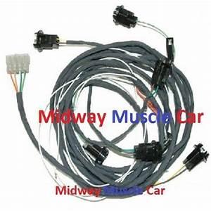 Rear Body Panel Tail Lamp Light Wiring Harness 69 Pontiac