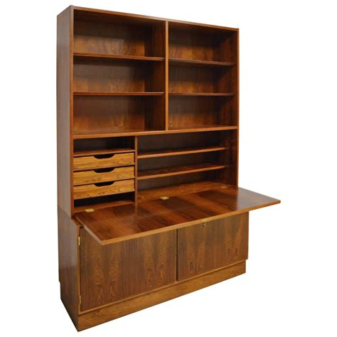 mid century bookcase for sale mid century modern danish rosewood bookcase secretary for