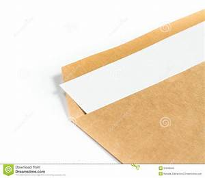 opened brown recycle big envelope with paper letter inside With large letter cardboard envelopes