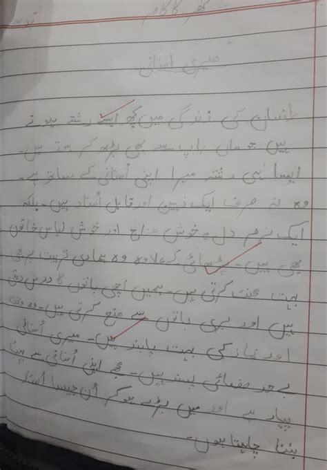 teacher urdu essay writing grade  student homework