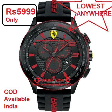 All used ferrari premium / super cars price starts at rs. Price 3600 Ferrari Men's 0830138 Scuderia XX Analog Display Quartz Black Watch Price Lowest