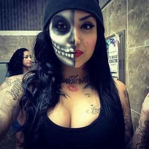 Halloween nini smalls skull face makeup | - Makeup ...