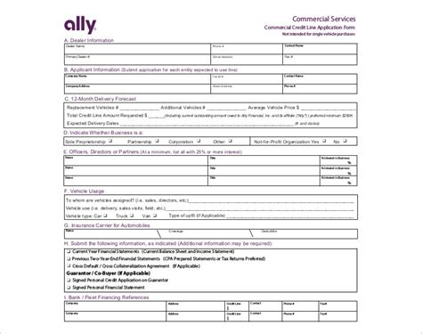 Dealer Application Template by 24 Credit Application Form Templates Free Word Pdf Formats