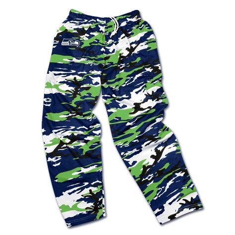 nfl mens camouflage zubaz pants seattle seahawks