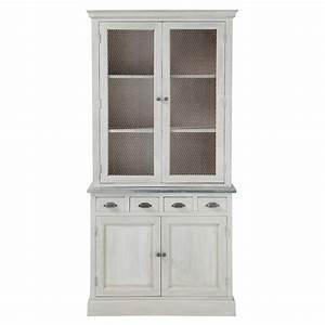 Maison Du Monde Vaisselier : vaisselier en bois d 39 acacia gris l 102 cm zinc maisons du monde ~ Preciouscoupons.com Idées de Décoration