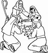 Coloring Shepherds Visit Jesus Pages Printable Getcolorings sketch template