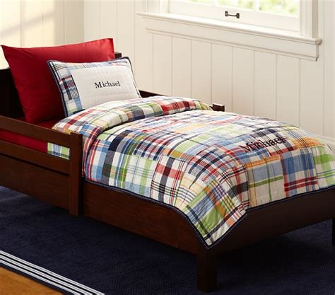 pottery barn toddler bed madras toddler quilted bedding pottery barn