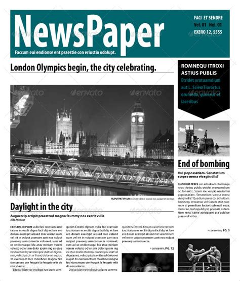 newspaper report template    documents