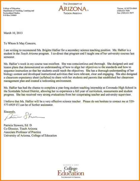 student reference letter  university admission