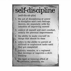 Self Discipline Definition Poster | Traditional design ...