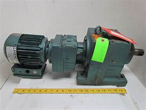 Sew 2hp Double Reduction Motor  Gearbox Speed