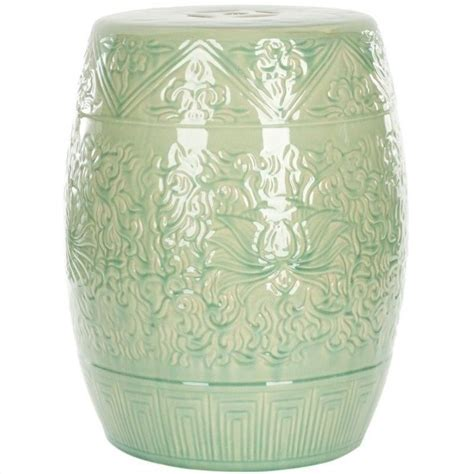 ceramic garden stools safavieh ceramic garden stool in lime green acs4502a