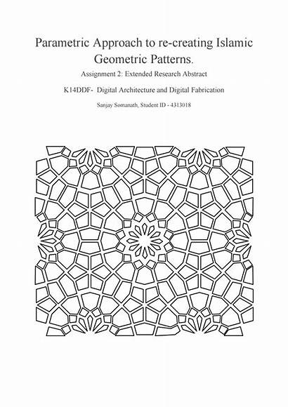 Islamic Patterns Parametric Geometric Approach