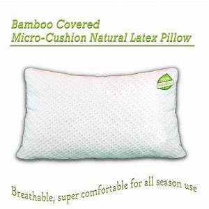 shredded latex pillow covered by soft bamboo rayon With bamboo pillow benefits
