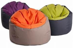 Pouf Pour Salon : gros pouf rond original bowly bicouleur gris aubergine ~ Premium-room.com Idées de Décoration
