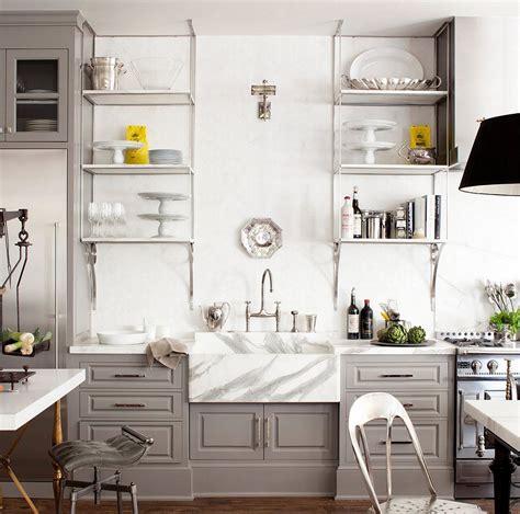 gorgeous takes  open shelving  kitchens
