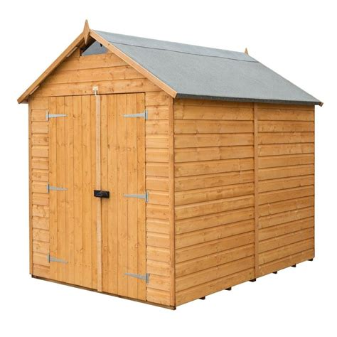 6 X 8 Wood Storage Shed by Bosmere 6 Ft W X 8 Ft D Wood Secure Storage Shed A053