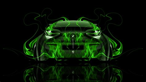 bmw   fire abstract car  el tony