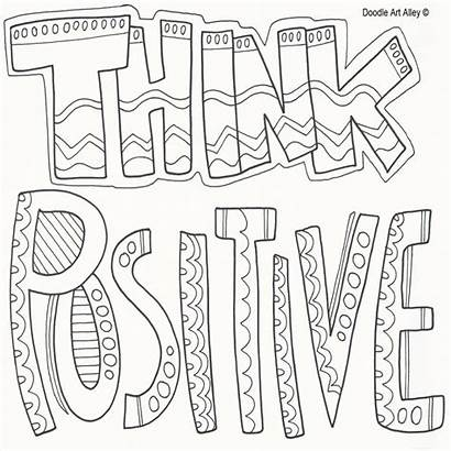 Coloring Doodle Pages Alley Positive Quote Printable