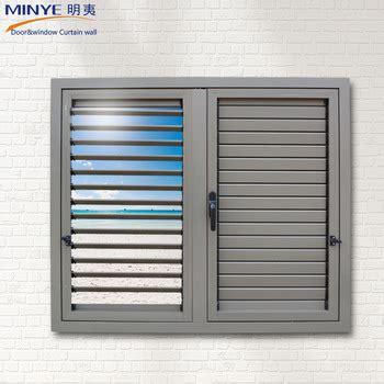 hot sale aluminum shutters casement window exterior