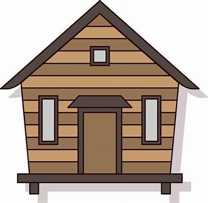 Chalet Clipart Hut Cartoon Forest Cabin Transparent