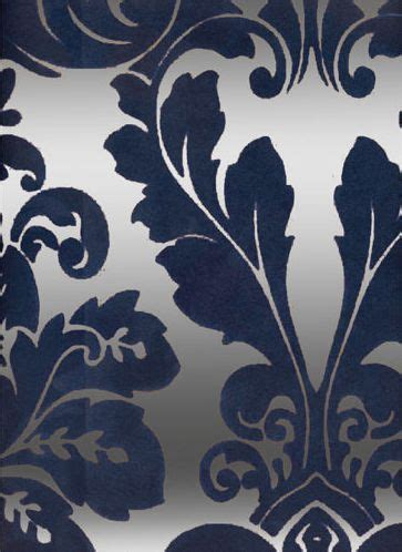 kelly deco velvet flocked wallpapers flock  midnight