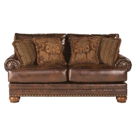 vintage leather loveseat brown leather loveseat traditional living room 3236