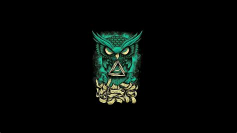 Background Digital Owl Wallpaper by Owl Minimalism Digital Triangle Hd Wallpapers