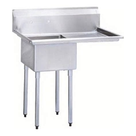 40 quot one compartment prep sink w right drainboard at discount sku tsa 1 12 r1 95352