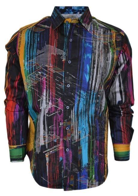 robert graham kaler  woven cotton sports shirt xs