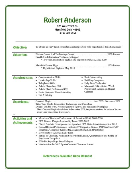 resume for students format college resumes for high school seniors best resume best