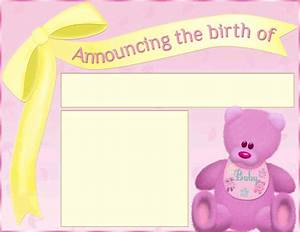download birth announcement template 1 for free tidyform With free online birth announcements templates