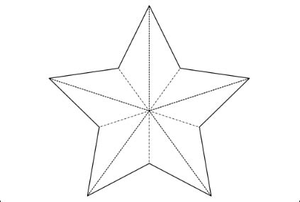 3d star template christmas decorations easy 3d baubles and more