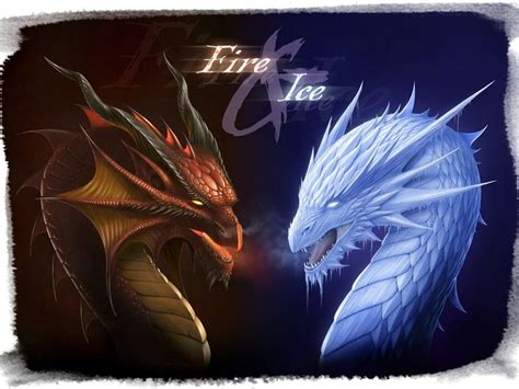 fire  ice dragon wallpaper gallery