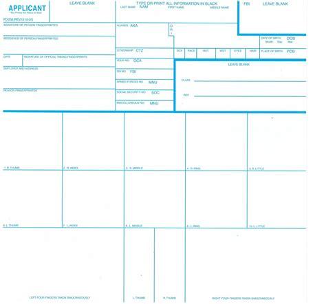 Fbi Fingerprint Background Check Fingerprint Cards Fbi Form Fd 258 3 Pack Livescan