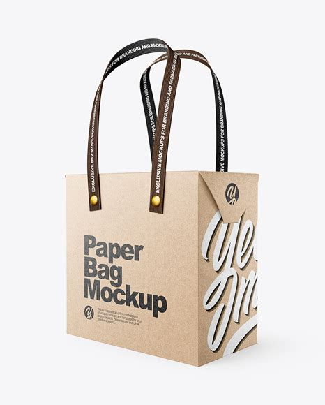 All free mockups include smart objects for easy edit. Download Kraft Paper Shopping Bag Mockup Front View ...