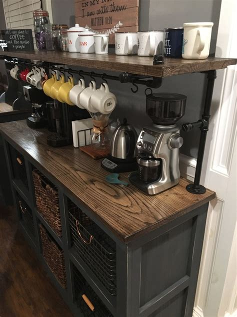 Coffee residence innovative and contemporary design will add character to your area for a sensational residence. Eddie 3 Coffee Bar in 2020 | Coffee bar home, Home coffee stations, Small apartment decorating