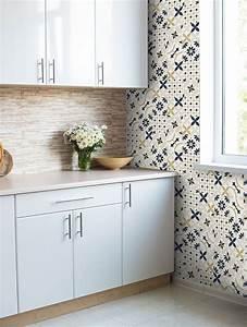 Papiers Peints Cuisine : papier peint carreaux ciments papermint ~ Melissatoandfro.com Idées de Décoration