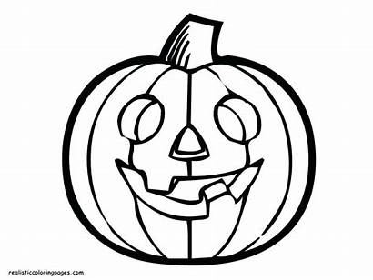 Pumpkin Coloring Halloween Pages Drawing Outline Line