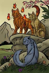 Warrior Cats Firestar and Sandstorm