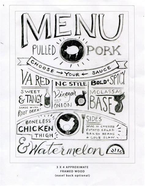 chalkboard menu sketch holland photo arts farewell bbq