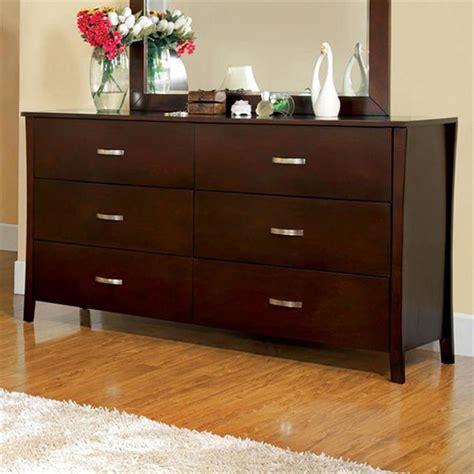 furniture  america midland brown cherry  drawer dresser