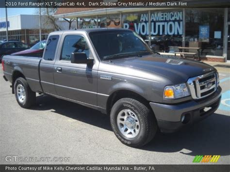 dark shadow grey metallic  ford ranger xlt supercab