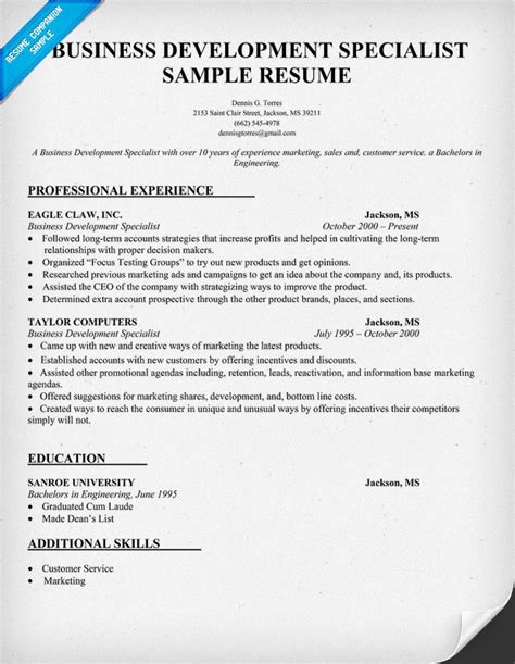 business development resume exles 28 images vp