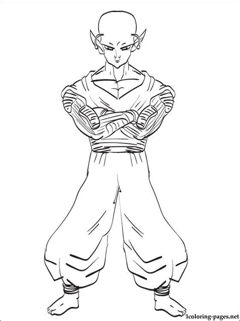 piccolo dragon ball coloring page coloring pages